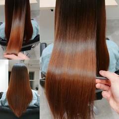 ロング 縮毛矯正 美髪 髪質改善 ヘアスタイルや髪型の写真・画像