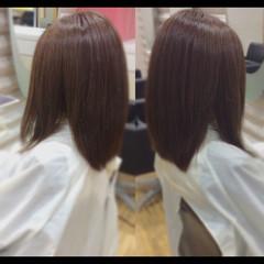 ナチュラル 縮毛矯正 髪質改善トリートメント 社会人の味方 ヘアスタイルや髪型の写真・画像