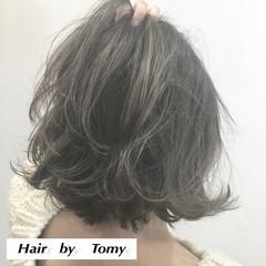 切りっぱなし 外ハネ ストリート ブラントカット ヘアスタイルや髪型の写真・画像