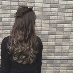 渋谷系 暗髪 ロング 外国人風 ヘアスタイルや髪型の写真・画像