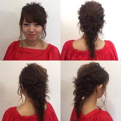 女子会 ロング フェミニン ヘアアレンジ ヘアスタイルや髪型の写真・画像