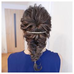 ブライダル ヘアアレンジ 編み込み ゆるふわ ヘアスタイルや髪型の写真・画像