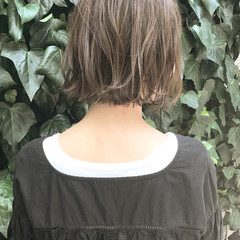 ハイライト 外ハネ ボブ 透明感 ヘアスタイルや髪型の写真・画像