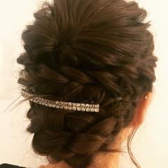 女子会 フェミニン セミロング 結婚式 ヘアスタイルや髪型の写真・画像