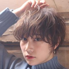 フェミニン ショート ショートボブ ベリーショート ヘアスタイルや髪型の写真・画像