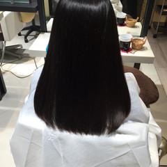 ストレート ロング 艶髪 ナチュラル ヘアスタイルや髪型の写真・画像