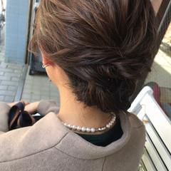 ヘアセット エレガント デート 簡単ヘアアレンジ ヘアスタイルや髪型の写真・画像