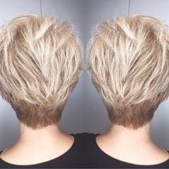 ストリート ショート 外国人風 ハイライト ヘアスタイルや髪型の写真・画像