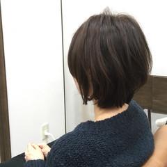 簡単 ショートボブ ショート ボブ ヘアスタイルや髪型の写真・画像