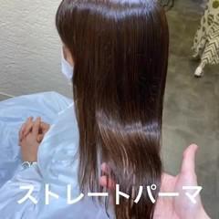 ナチュラル ストレート ロング エアーストレート ヘアスタイルや髪型の写真・画像