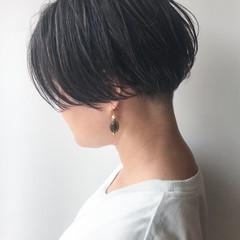 ショートボブ 大人かわいい ショート 刈り上げ ヘアスタイルや髪型の写真・画像