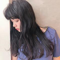 ナチュラル 黒髪 ロング セミロング ヘアスタイルや髪型の写真・画像