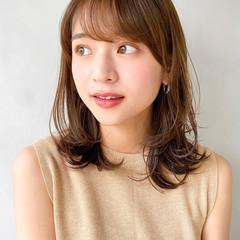 ミニボブ ミディアム 韓国 ナチュラル ヘアスタイルや髪型の写真・画像