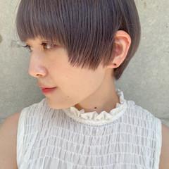 ショートボブ フェミニン ミニボブ ベリーショート ヘアスタイルや髪型の写真・画像