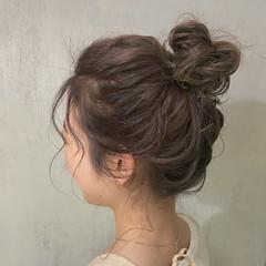 結婚式 セミロング デート 大人かわいい ヘアスタイルや髪型の写真・画像
