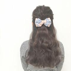 大人かわいい フェミニン ロング 編み込み ヘアスタイルや髪型の写真・画像