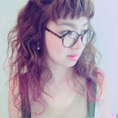 ロング 卵型 外国人風 グラデーションカラー ヘアスタイルや髪型の写真・画像