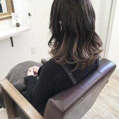 グラデーションカラー アンニュイ ハイライト アッシュ ヘアスタイルや髪型の写真・画像