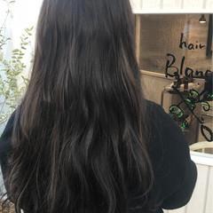 モード ロング イルミナカラー ヘアスタイルや髪型の写真・画像