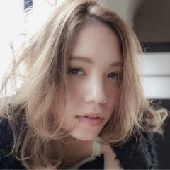 セミロング こなれ感 大人女子 ハイライト ヘアスタイルや髪型の写真・画像