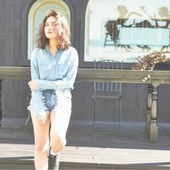 ストレート ミディアム ストリート パンク ヘアスタイルや髪型の写真・画像