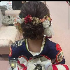 成人式ヘア ナチュラル ヘアアレンジ ヘアセット ヘアスタイルや髪型の写真・画像