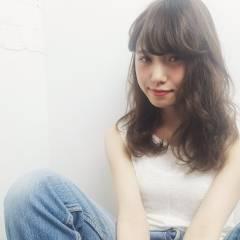 パンク 春 外国人風カラー セミロング ヘアスタイルや髪型の写真・画像