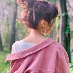 ヘアセット 結婚式ヘアアレンジ ヘアアレンジ フェミニン ヘアスタイルや髪型の写真・画像