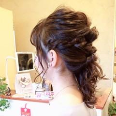 ヘアアレンジ アディクシーカラー N.オイル ロープ編み ヘアスタイルや髪型の写真・画像