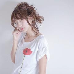 ハイライト 前髪あり ショート 簡単ヘアアレンジ ヘアスタイルや髪型の写真・画像