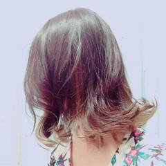 暗髪 モード ミディアム こなれ感 ヘアスタイルや髪型の写真・画像