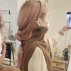 ふわふわヘアアレンジ 簡単ヘアアレンジ ナチュラル ロング ヘアスタイルや髪型の写真・画像