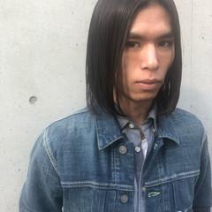 メンズ モード ワンレングス メンズスタイル ヘアスタイルや髪型の写真・画像