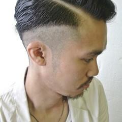 メンズ 黒髪 ボーイッシュ ショート ヘアスタイルや髪型の写真・画像