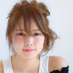 ハーフアップ ショート ヘアアレンジ ピュア ヘアスタイルや髪型の写真・画像