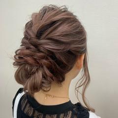 ヘアセット アップスタイル 結婚式ヘアアレンジ ロング ヘアスタイルや髪型の写真・画像