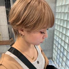 ショートヘア ショート ハンサムショート ミルクティーベージュ ヘアスタイルや髪型の写真・画像