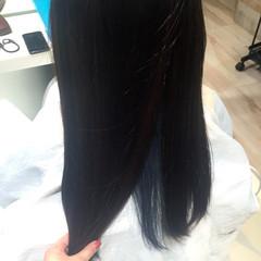暗髪 ブルー 黒髪 インナーカラー ヘアスタイルや髪型の写真・画像