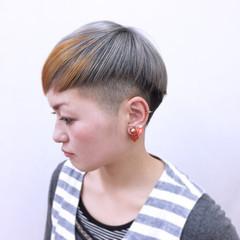 ハイトーン マッシュ 大人かわいい ストリート ヘアスタイルや髪型の写真・画像