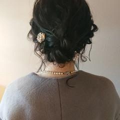 ボブ ヘアアレンジ 結婚式 フェミニン ヘアスタイルや髪型の写真・画像