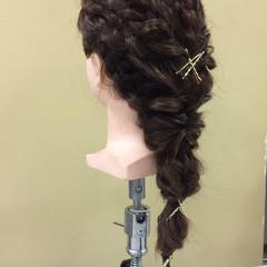 ヘアアレンジ ヘアピン ヘアアクセ ロング ヘアスタイルや髪型の写真・画像