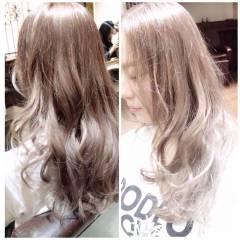 ストリート ロング 外国人風カラー ブラウンベージュ ヘアスタイルや髪型の写真・画像