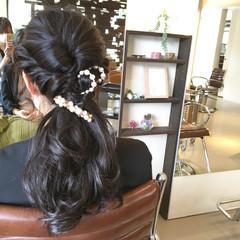 ヘアアレンジ ロング パーティ モテ髪 ヘアスタイルや髪型の写真・画像