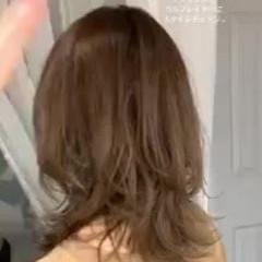 ウルフカット グラデーションカラー 大人かわいい セミロング ヘアスタイルや髪型の写真・画像