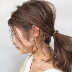 ヘアアレンジ ふわふわヘアアレンジ ナチュラル セミロング ヘアスタイルや髪型の写真・画像