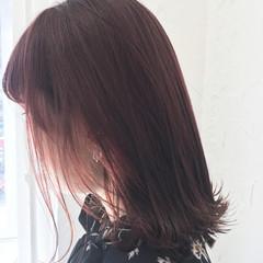 ピンク パープル 原宿系 ミディアム ヘアスタイルや髪型の写真・画像