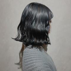 韓国 ナチュラル 切りっぱなしボブ 外国人風カラー ヘアスタイルや髪型の写真・画像