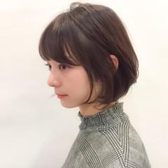 透明感 オフィス デート ショート ヘアスタイルや髪型の写真・画像