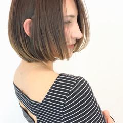 斜め前髪 ワンレングス 春スタイル ショートボブ ヘアスタイルや髪型の写真・画像