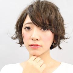 暗髪 コンサバ ボブ 大人かわいい ヘアスタイルや髪型の写真・画像